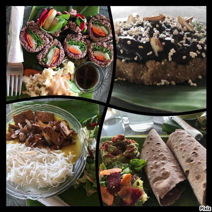 Comida restaurante vegano en la India