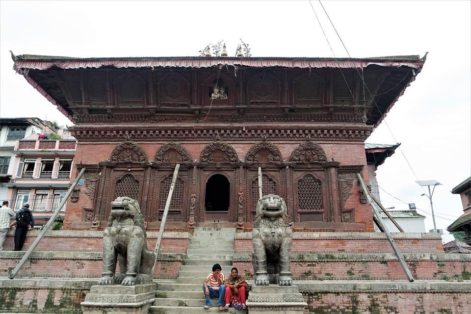 Plaza Durbar, Katmandú. Nepal después del terremoto