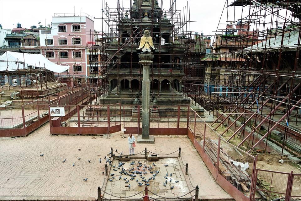 Plaza Durbar de Patán, Nepal después del terremoto