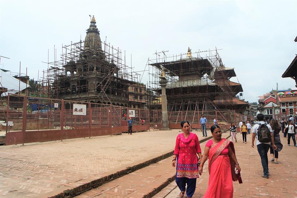 Reconstrucción de la plaza Durbar de Patan