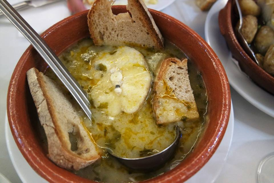 Sopa de pescado en Casa do Alentejo