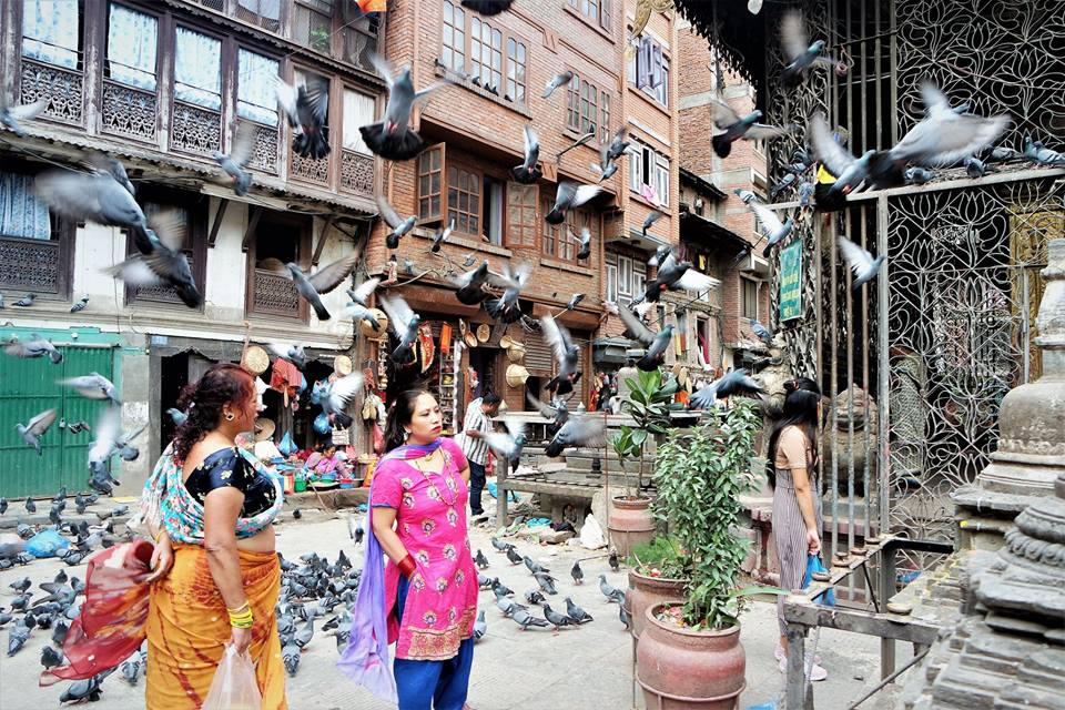 Templos hindúes del centro de Katmandú