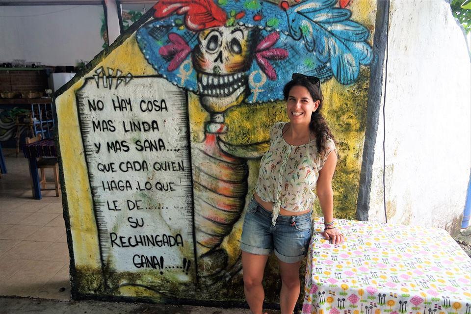 Mural en playa del Carmen