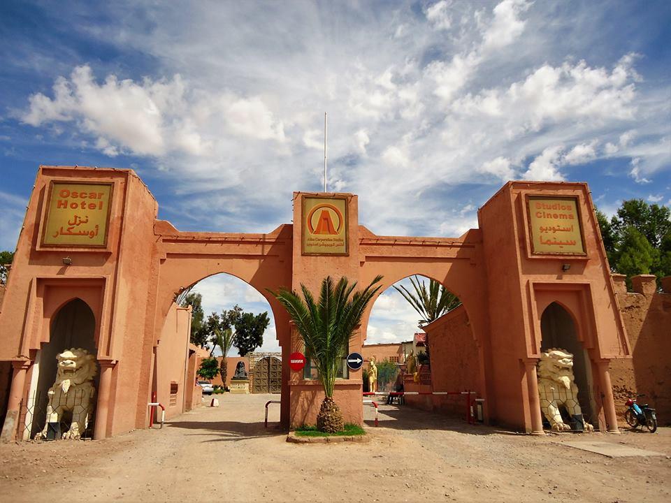 Entrada a los Atlas Studios de Ouarzazate