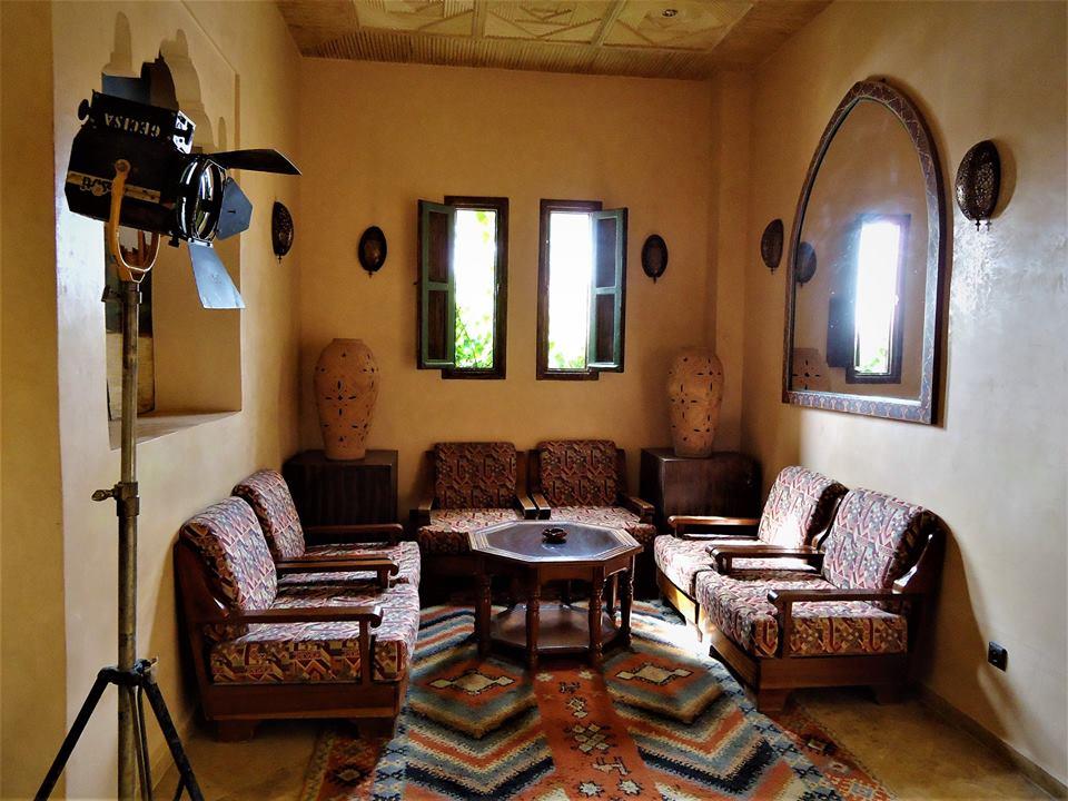Salón, hotel de los Atlas Studios