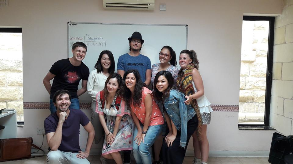 Mi clase de inglés en Malta