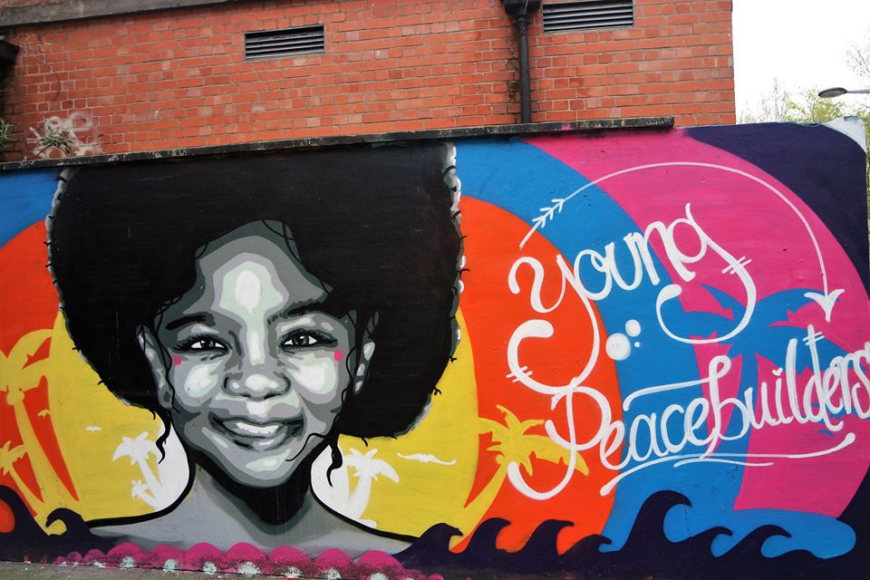 Young, graffiti en Belfast