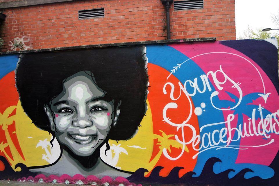 Young, graffiti en Belfast