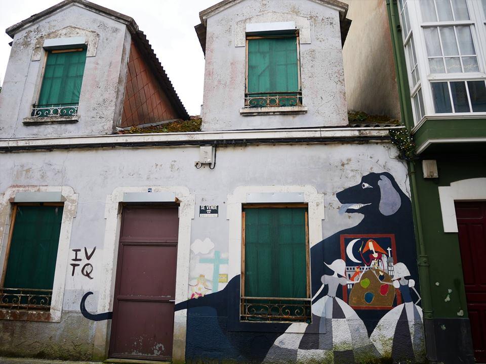 Arte urbano en Canido