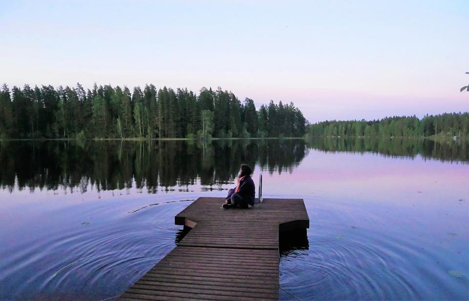 Atardecer en el lago
