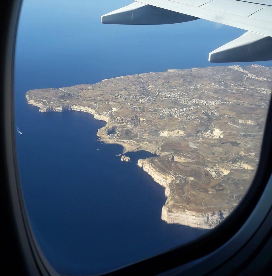 Malta desde el avión