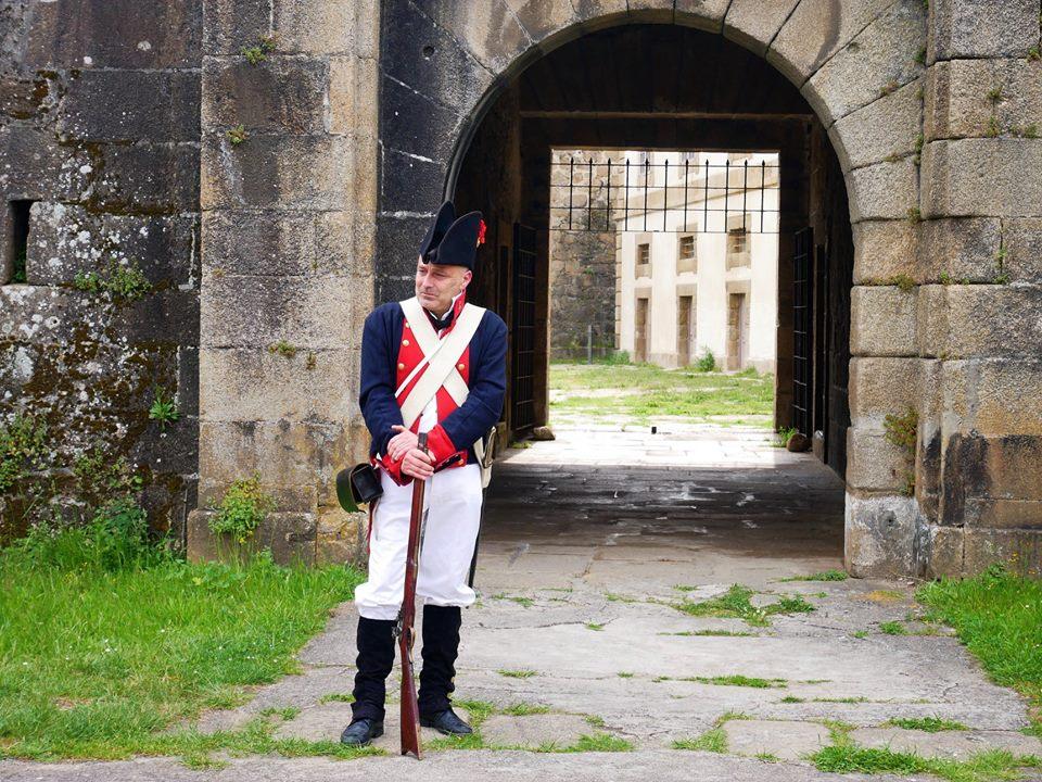Visita teatralizada, castillo de San Felipe en Ferrol