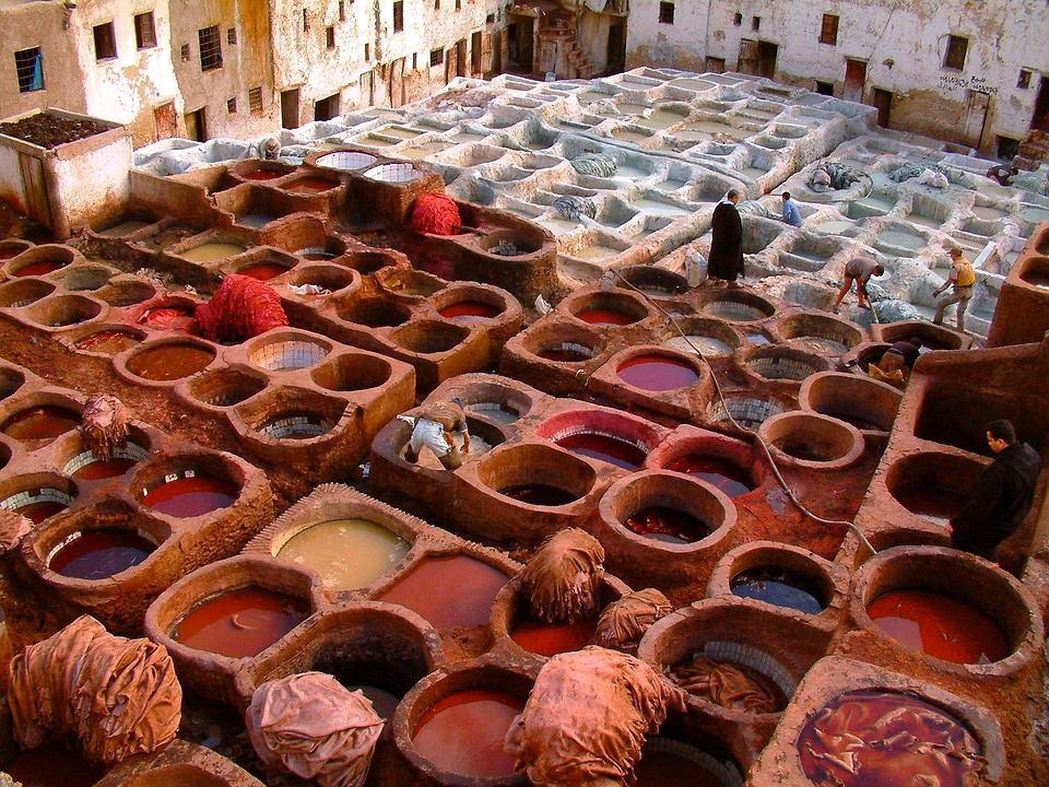 Curtidores de Fez, Marruecos