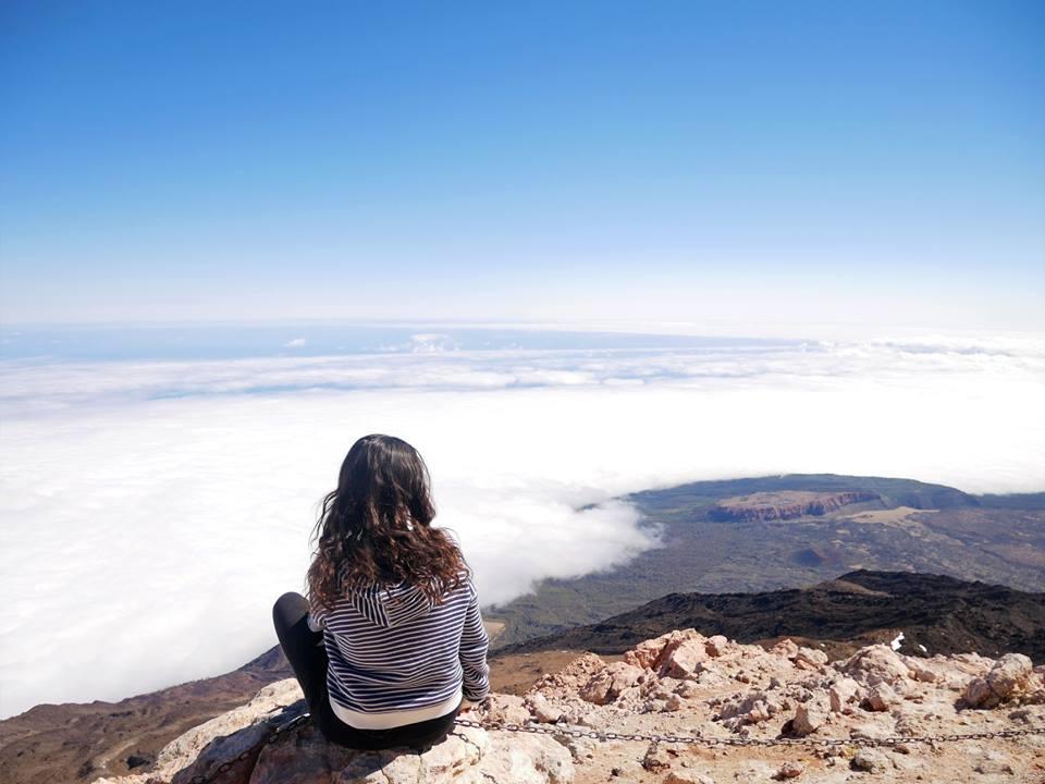 Mar de nubes. Subida al Pico del Teide