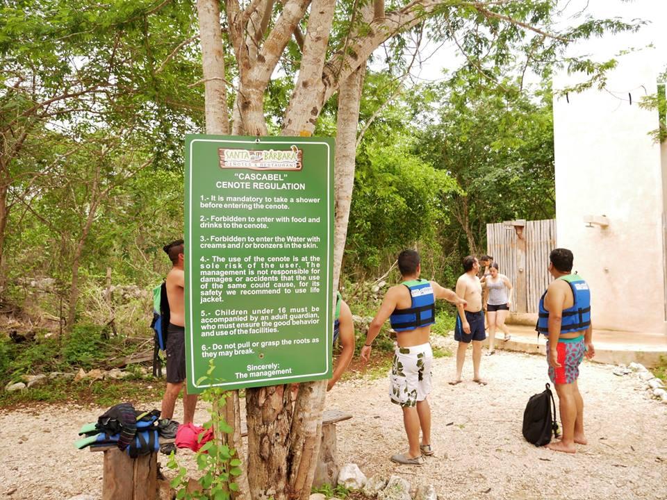 Normas de uso del cenote cascabel, Homún