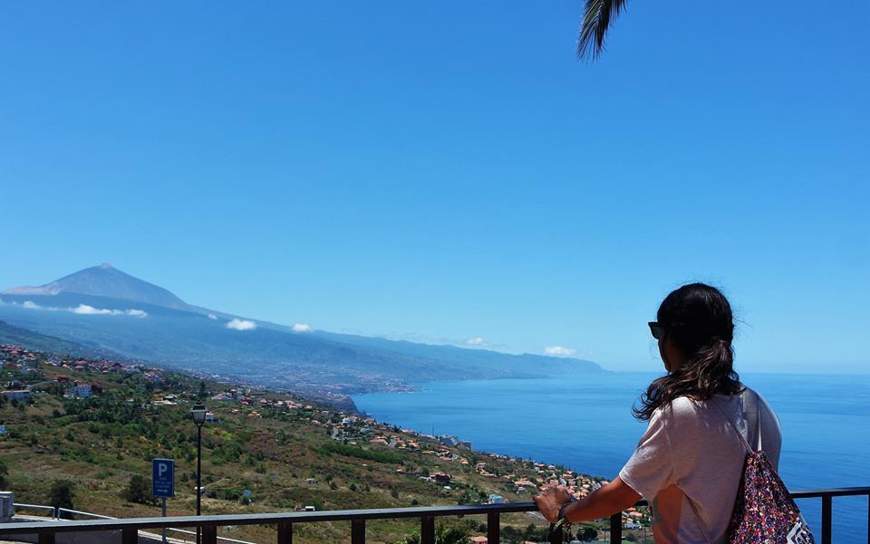 Vistas del Teide desde el norte de Tenerife