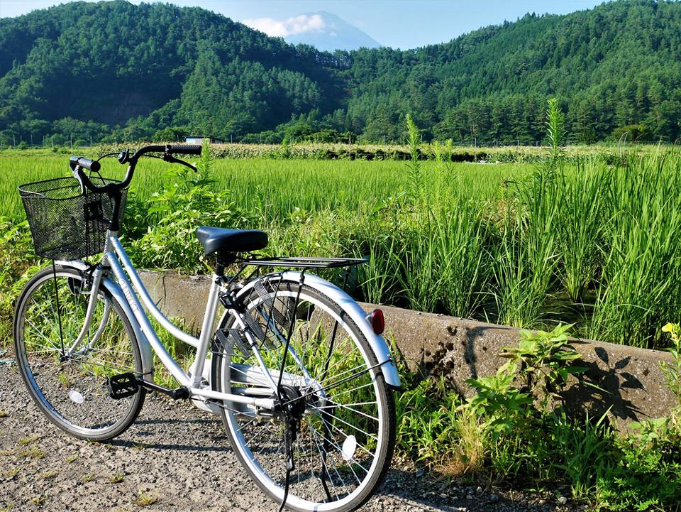 Bici en el monte Fuji