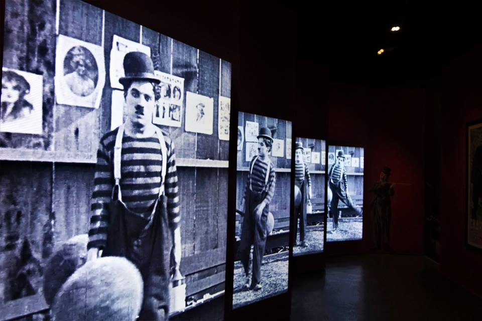 Paneles sensoriales, museo de Chaplin