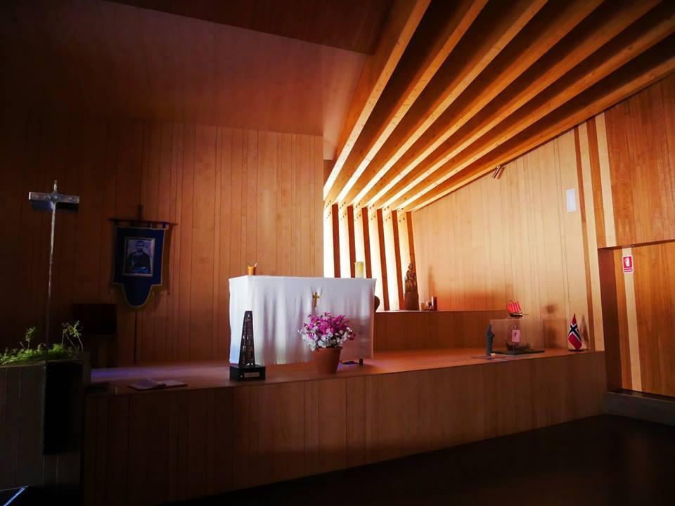 Interior de la ermita de San Olav