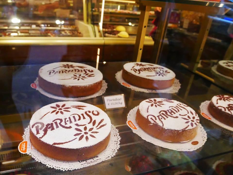 Tarta paradiso típica de Génova