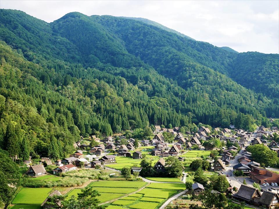 Vistas desde el mirador de Shirakawa-Go