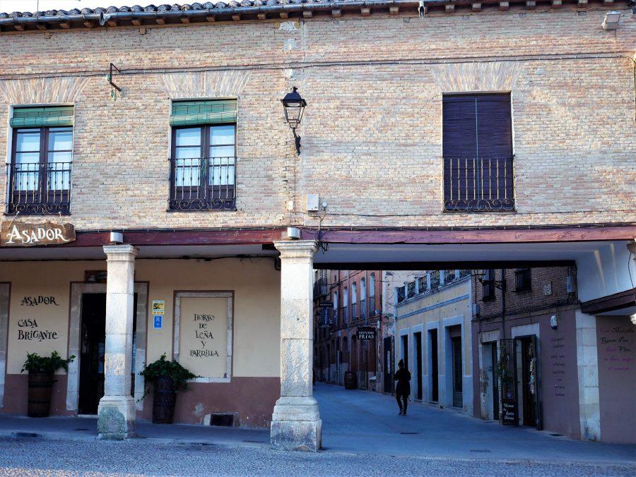 Casas porticadas de la plaza Mayor de Lerma
