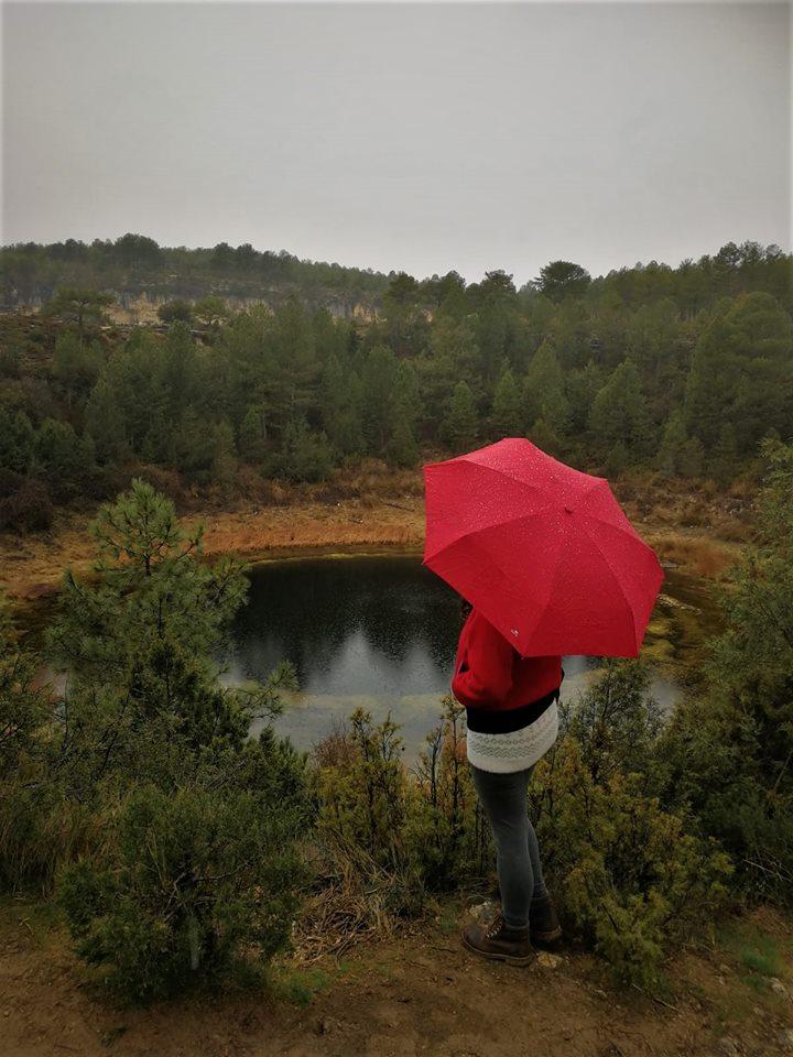 Llueve en la serranía de Cuenca