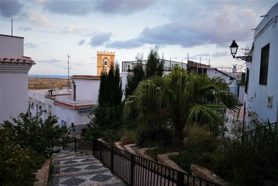 Subida al castillo de Salobreña
