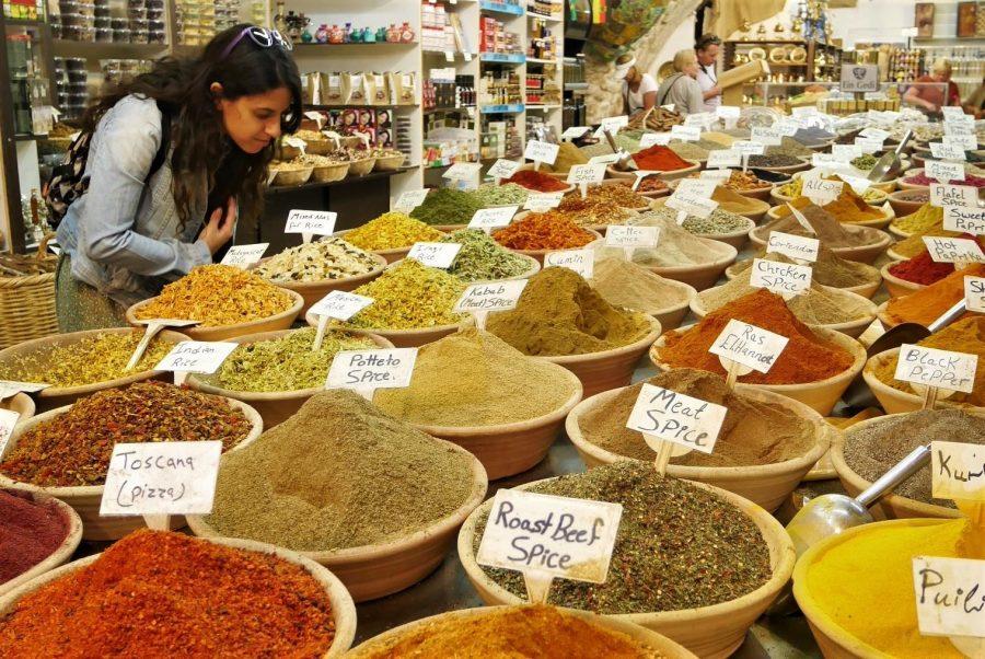 Tienda de especias en el zoco, qué ver en Jerusalén