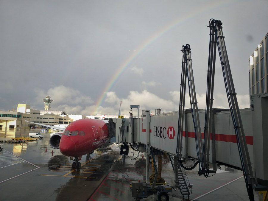 Avión de Norwegian en el aeropuerto de Los Ángeles