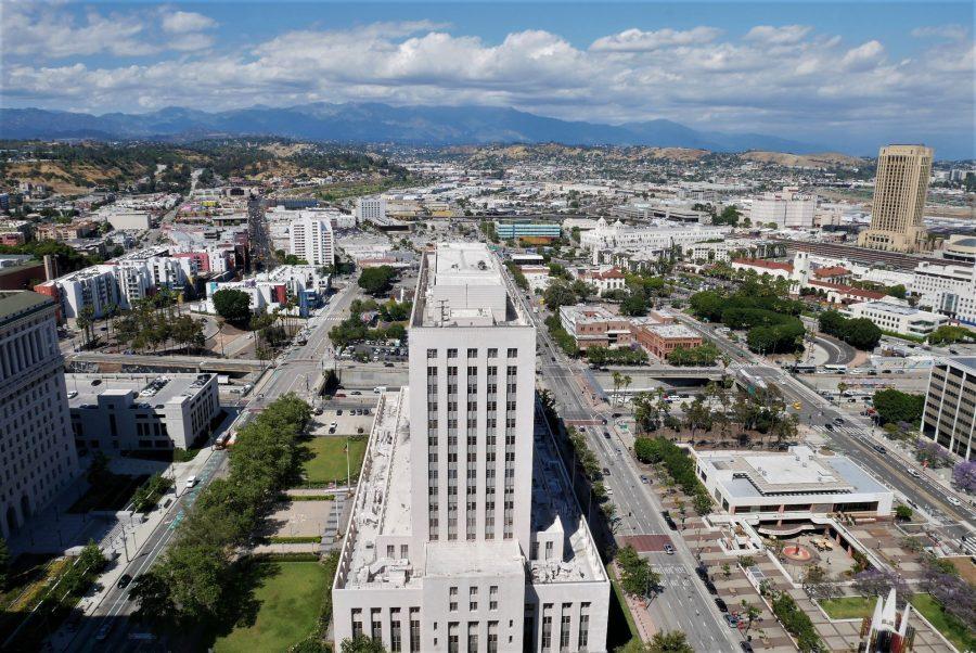 Vistas desde el Ayuntamiento de Los Ángeles