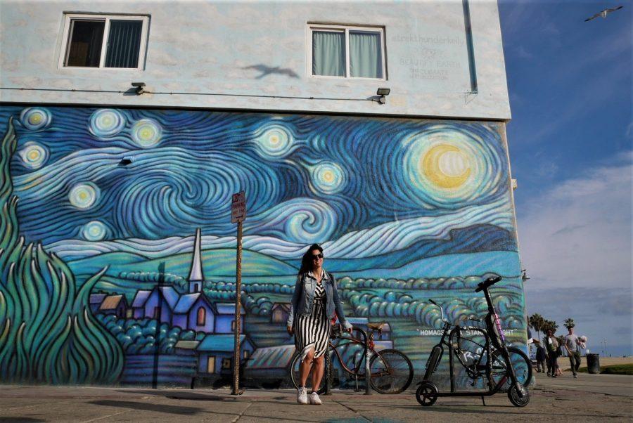 Mural de La noche estrellada de Van Gogh