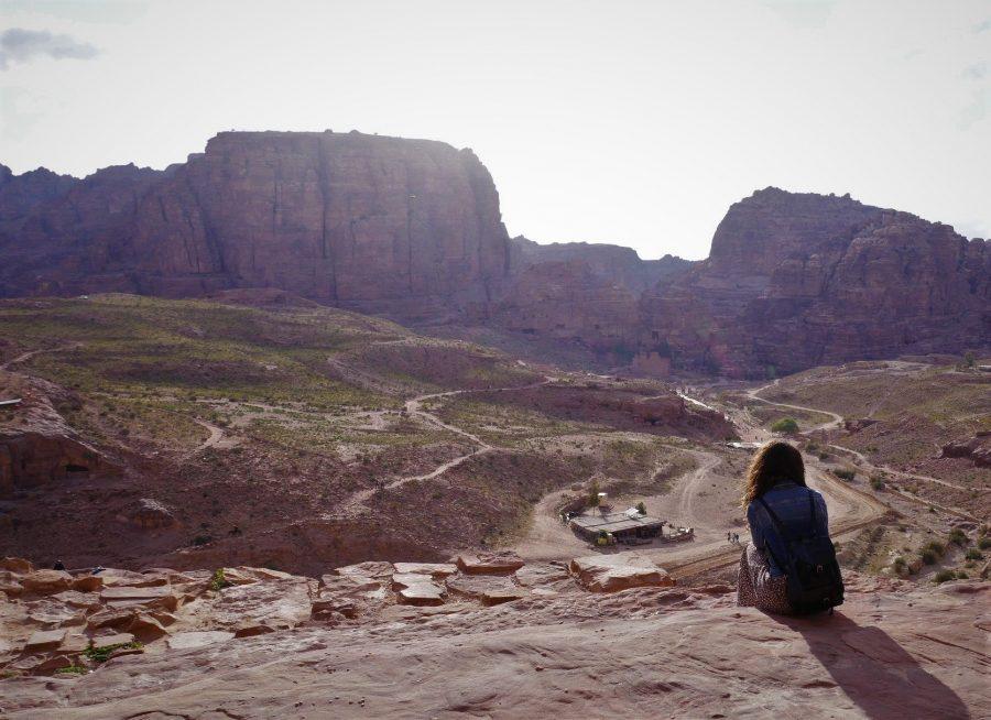 Vistas de Petra, Jordania