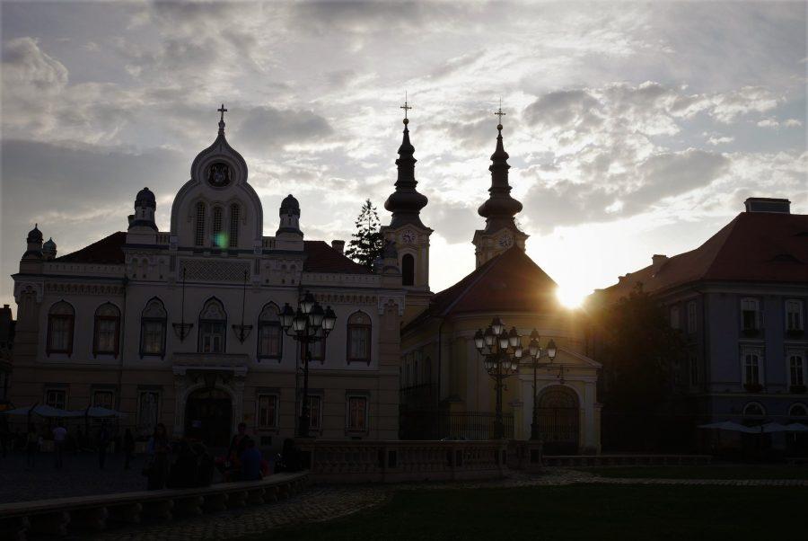 Atardecer en Timisoara, Rumanía