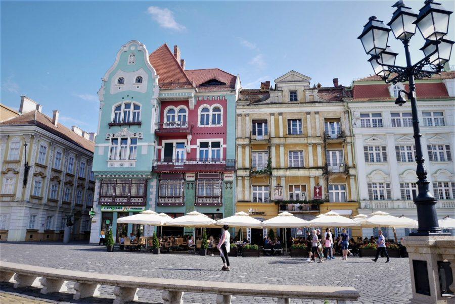 Casas de colores de Timisoara, Rumanía