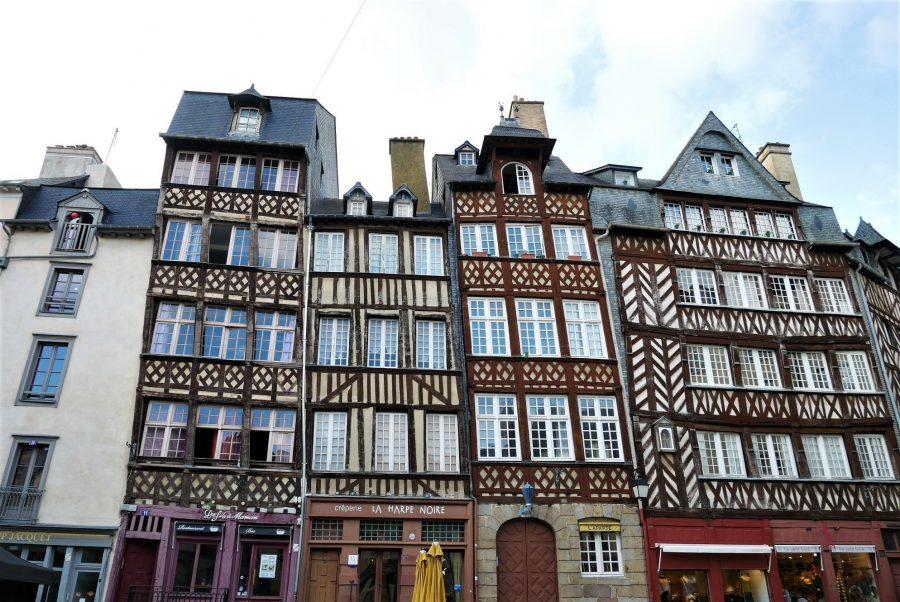 Fachadas con entramado de madera en Rennes