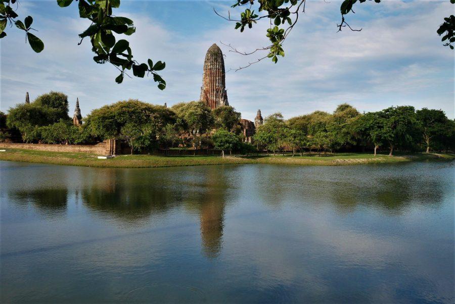 Templo de Wat Phra Ram en Ayutthaya, Tailandia