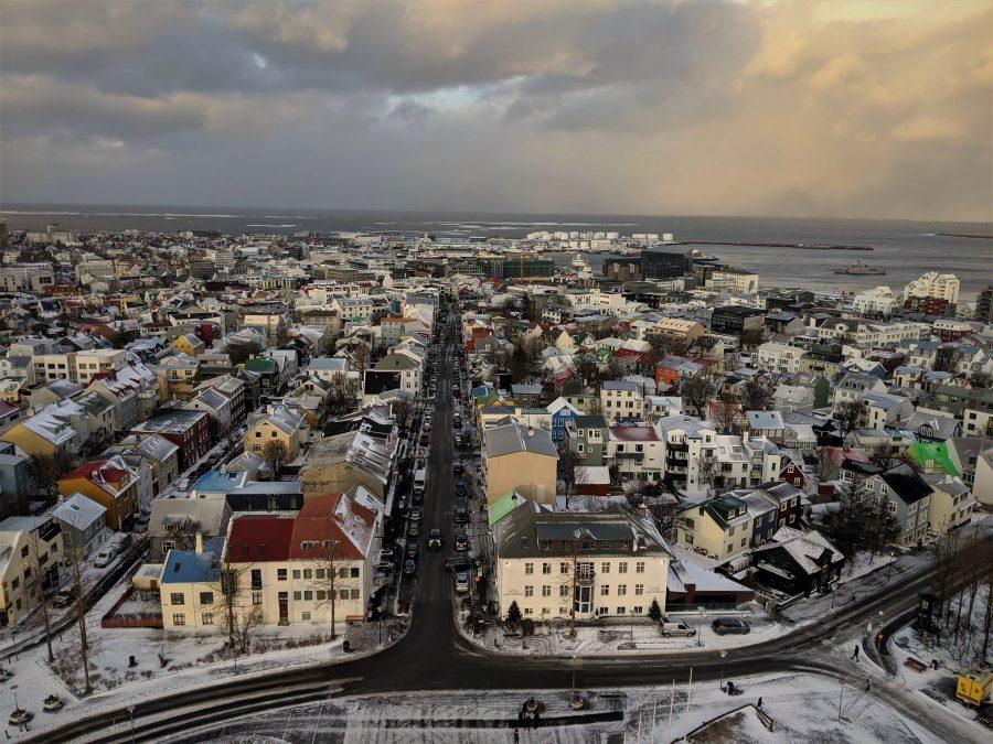 Vistas de Reikiavik desde la torre de la iglesia