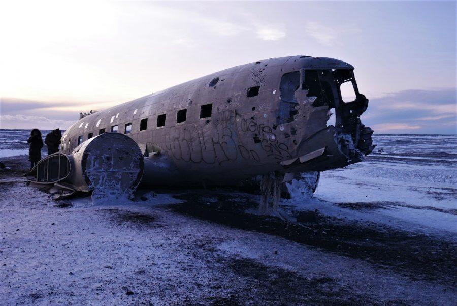 El avión estrellado de Islandia
