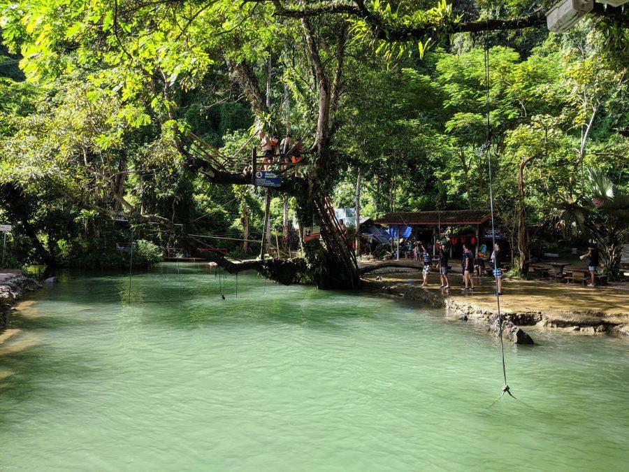 Laguna Azul en Vang Vieng, Laos