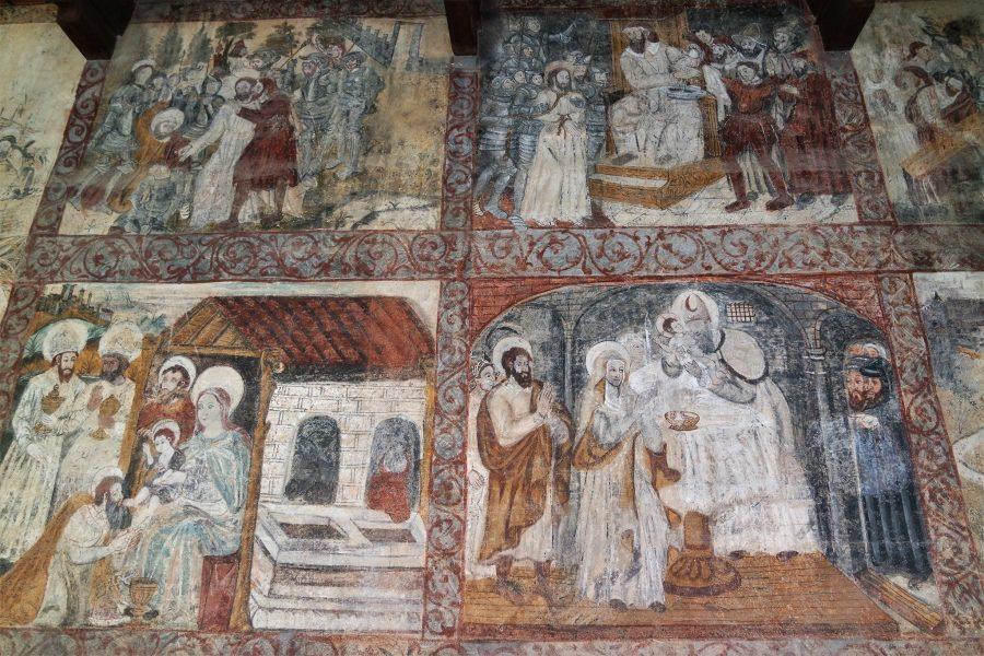 Murales de la Colegiata en Alquézar