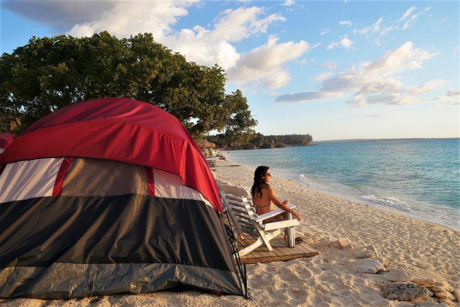 Camping en Bahía de las Águilas, República Dominicana