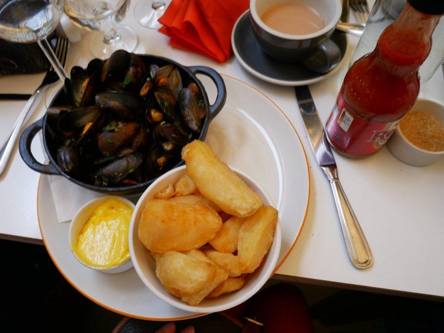 Mejillones y patatas en Dublín