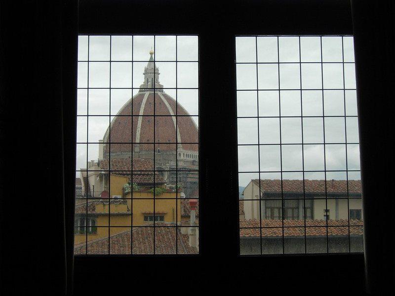 El Duomo de Florencia desde la Galería de los Uffizi