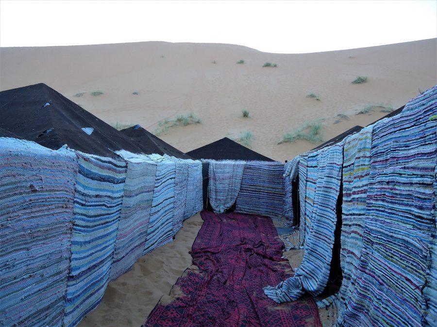 Tiendas, dormir en jaima en el desierto de Marruecos