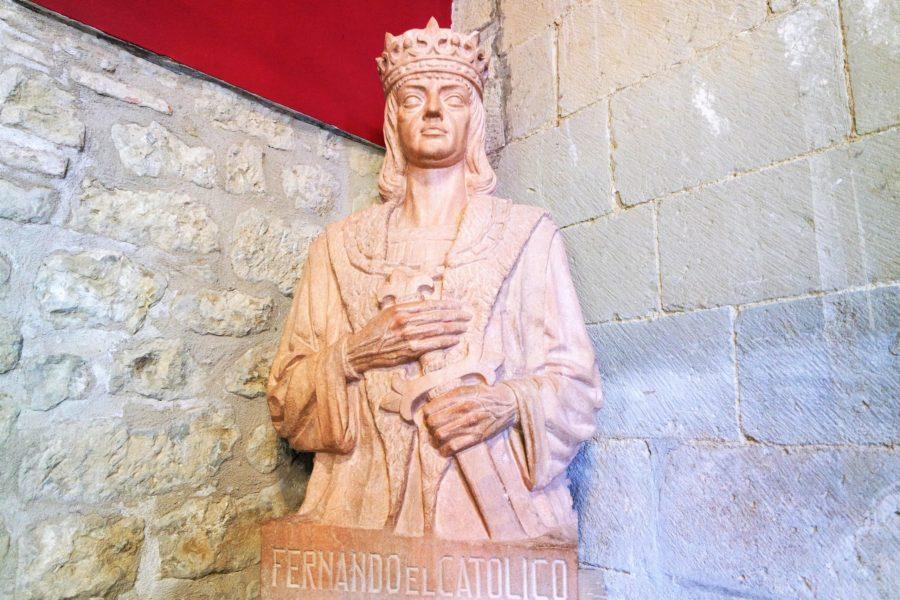 Busto de Fernando el Católico en el Palacio de Sada