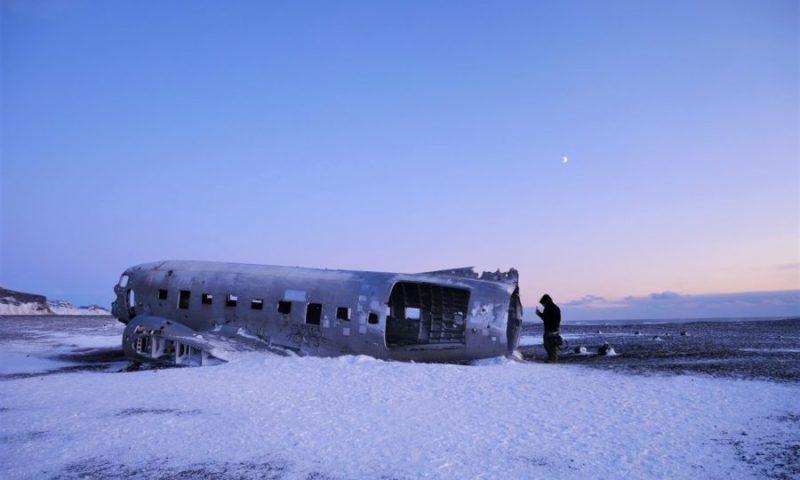 El avión abandonado de Islandia