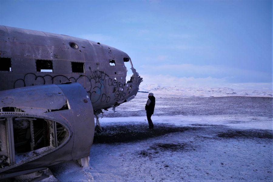 Fuselaje del avión abandonado de Islandia