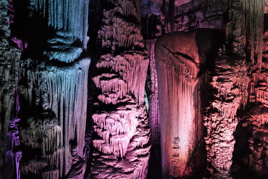 Iluminación de las cuevas de Mallorca