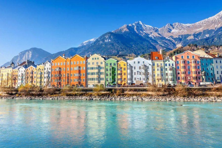 Innsbruck, capital de El Tirol en Austria